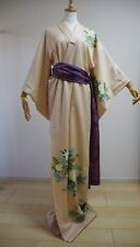 Kimono Dress Japan Houmongi Geisha costume Vintage dress Belt set KDJM-A0057