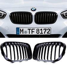 2 GRILLE DE CALANDRE M PERFORMANCE NOIR BRILLANT BMW SERIE 1 F20 / F21 PHASE 2