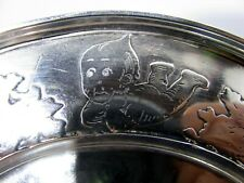 Nice Kewpie Sterling Silver Children's Breakfast Plate