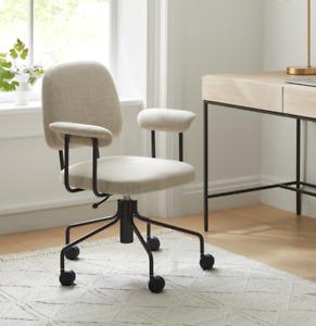 John Lewis & Partners Cash / Benjie Office Chair, Linen Weave Natural - RRP £349