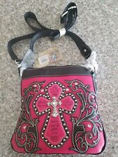 Montana West Purse New W/Tags Hot Pink PSALMS 118:24 CROSS