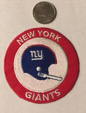 "New York Giants Vintage Rare Embroidered Iron On Patch  3"" X 3"""