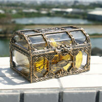 NE_ Clear Pirate Treasure Box Trinket Organizer Jewelry Storage Case Chest Novel