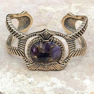 Barse Ecuador Cuff Bracelet-Amethyst Infused With Molten Bronze- Bronze-NWT