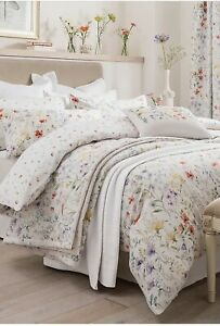 Dorma Wildflower Digitally Printed 100% Cotton King Duvet Cover With Pillowcases