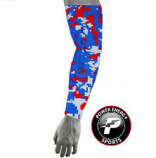 Titanium Baseball Sports Compression Arm Sleeve (Red White Royal Digital Camo)