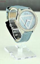 NIEUW Horloge GUESS Dames Blue Leder U0819L1