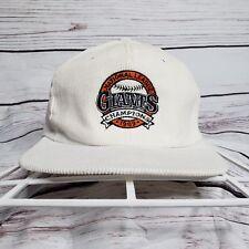 Vintage 1989 San Francisco Giants Natinal League Champions Corduroy Snapback Hat