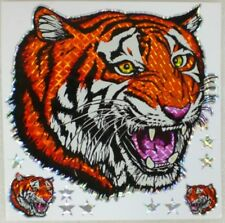 Large Tiger Head Vinyl Decal Car Truck Color Window Prism Sticker Stars