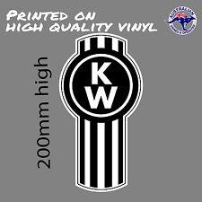 KENWORTH Trucks logo Black/White decal  UTE TOOLBOX CAR WINDOW STICKER TurboBomb