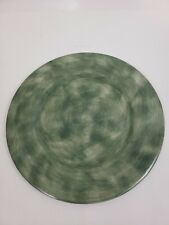 """Eddie Bauer Home Collection Charger Plate dish 12"""" olive green painted"""