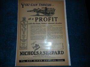 1928 Nichols & Shepard Print Advertisement: Red River Special Line Battle Creek