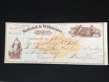 U.S: USED CHECK #RNC1 1871 BANKING HOUSE OF NOLAND & WILMORE NICHOLASVILLE KY