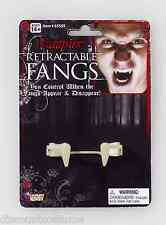 VAMPIRE RETRACTABLE FANGS SPECIAL FX APPEAR & DISAPPEAR COSTUME ACCESSORY