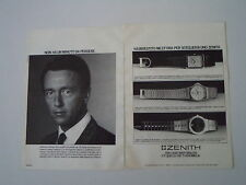 advertising Pubblicità 1984 OROLOGIO ZENITH QUARTZ/PORT ROYAL/ROYAL MUSEUM