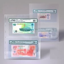 A05 TACC Plastic Stock Pages, CLEAR, Extra Wide for FDC PMG 2-way division