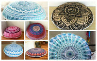 Large Mandala Round Floor Pillow Pouf Meditation Cushion Cover Boho Day Bed Case