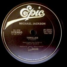 "MICHAEL JACKSON Thriller 12"" NEW VINYL Epic instrumental"