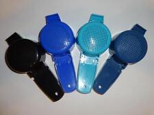 Tupperware 4 Mini Strainers Sifter Tea Craft Gadgets Black Blue Kitchen Tool New