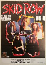 SKID ROW CONCERT TOUR POSTER 1991 SLAVE TO THE GRIND