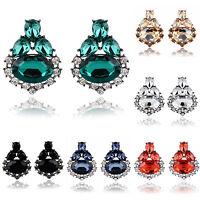 1 Pair Fashion Crystal Rhinestone Geometric Ear Stud Earrings Jewelry Accesory