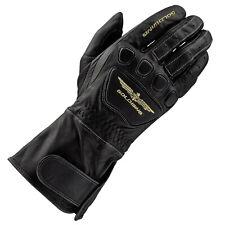 Racer Goldwing Herren Motorradhandschuhe Touring Leder - schwarz XL