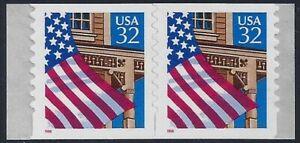 """2915A - Scarce Vertical DieCut Shift Error / EFO Pair Flag Over Porch """"FOP"""" MNH"""