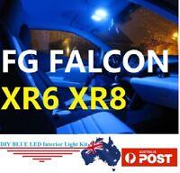 BLUE LED Interior Lights Bulbs Ford Falcon FG XR6 XR8 SEDAN Turbo 2013