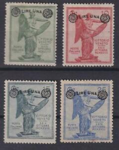 ITALY 1924 overprinted set Victory MH good centering / N6779