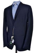 NEW - SARTORIA BAGNOLI NAPOLI Solid Blue LIGHTWEIGHT Wool Sport Coat Blazer 42 R