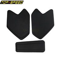 Black Oil Tank & Side Pad Decal Protector Sticker For BMW R1200GS LC ADV 08-17