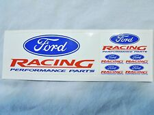 """Ford Racing"" Mini Decal set-6 in all. Models-Dash-Tachometer face-Mirrors-scoop"