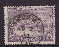 Tasmania SPRINGFIELD postmark 1902 on 2d pictorial rated S (5) by Hardinge