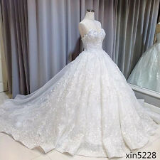 Bling Bling Lace White Princess Bridal Ball Gowns Wedding Dresses Size 2 4 6 8++