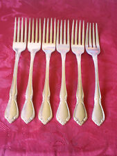 """Lot of (6) Dinner Forks ''CHATEAU"""" Pattern By Oneida"""
