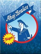 Ahoj Brause Blau Magnet  6x8 cm 14153 Kühlschrankmagnet Schild Sign
