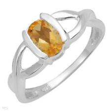 0.85ctw-Citrine Soliture Ring-Size 7-SS-$89.-free ship