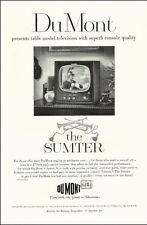 "1951 vintage television  Ad, DuMont 'Sumter' 17"" Table TV Set  -042514"