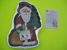WILTON OLD WORLD FULL BODY SANTA CAKE PAN W/INSERT + DIRECTIONS BOOKLET