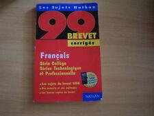 brevet 99 corriges francais serie college