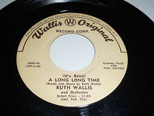 RUTH WALLIS NM It's Been A Long Long Time 45 Gimme 2002 Original 7""