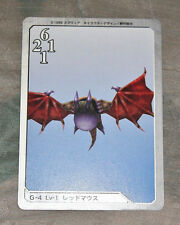 G-4 L1 Red Bat Final Fantasy VIII FF8 Triple Triad Playing Card Japan Import
