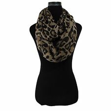 WOMEN'S BRAND NEW FASHION STYLISH LEOPARD ANIMAL PRINT INFINITY LOOP SCARF