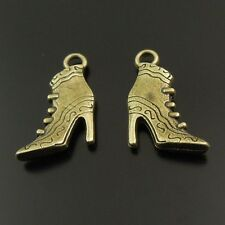 20pcs Antiqued Bronze Tone High-Heel Shoe/Boot Pendant Charms 19*16*4mm 37950