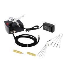 Gravity Feed Dual Action Airbrush Air Compressor Kit + Air Brush Nail Tool J7R3