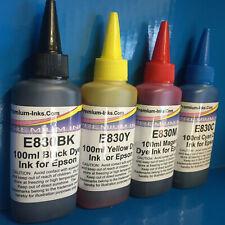 4X100ml Printer Refill Ink Jet Bottles for Epson ECOTANK ET1650 ET3700 ET 4700