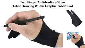 Black Anti-fouling Glove Artist Drawing/Painting/Graphics Design
