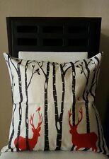 "Beautiful Elks Buck Deer in the Forest Linen Throw Pillow Case Cover 18"" US SLR"