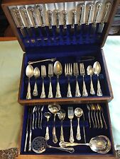 Unusual  Canteen  DOROTHY VERNON Pattern Silverplate By McG.C.Co? America 84 pc