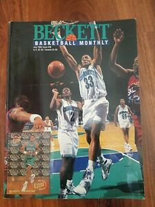 Beckett Basketball Magazine Monthly Price Guide Alonzo Mourning Cover July 1993